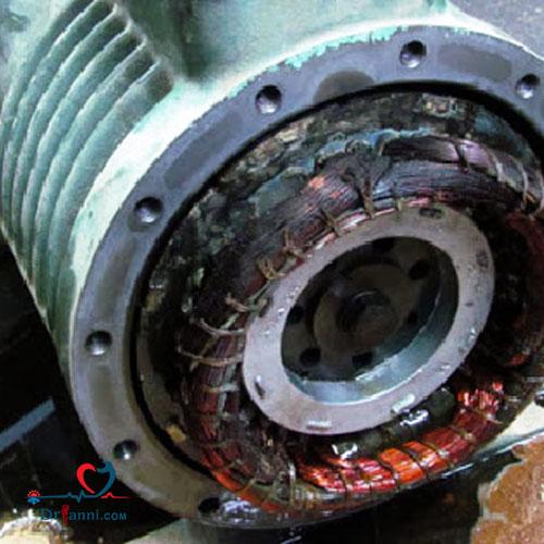 سوختگی موتور کولرگازی