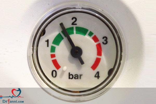 نمایش فشار آب پکیج